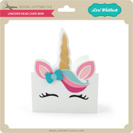 Unicorn Head Card Bow