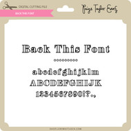 Back This Font