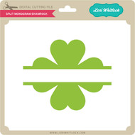 Split Monogram Shamrock