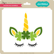 Unicorn Face Shamrock
