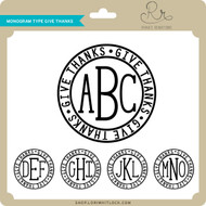 Monogram Type Give Thanks