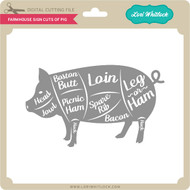 Farmhouse Sign Cuts of Pig