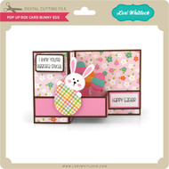Pop Up Box Card Bunny Egg