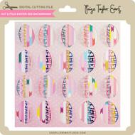 Cut & Fold Easter Egg Background