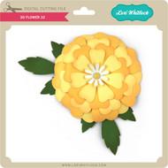 3D Flower 32