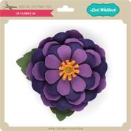 3D Flower 34