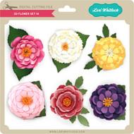 3D Flower Set 14