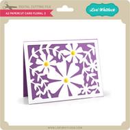 A2 Papercut Card Floral 3