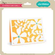 A2 Papercut Card Floral 4