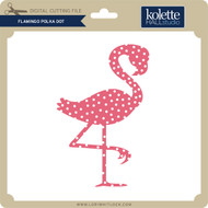 Flamingo Polka Dot