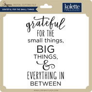 Grateful for the Small Things