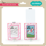 Magic Slider Card Unicorn