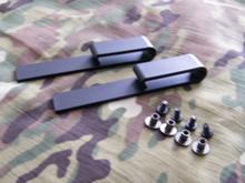Black IWB Injection Molded J-Hook Belt Clips