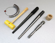 5Pc MANDREL RING STICK RINGSIZER-STRETCHER-PLASTIC MALLET