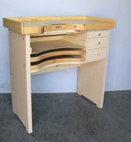 JEWELERS BENCH JEWELRY MAKING WATCHMAKERS WORKBENCH WOOD TOP