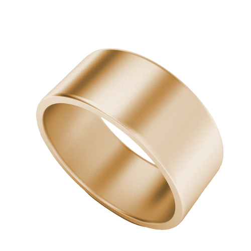 Brushed Wedding Ring with Flat Profile (Rose Gold)