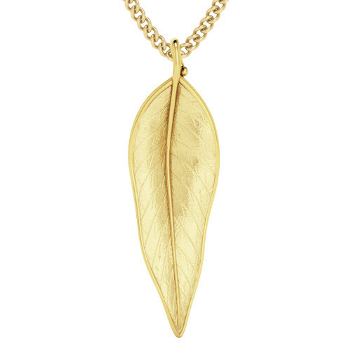 Terre-Et-Mer Leaf Necklace Yellow Goldplate