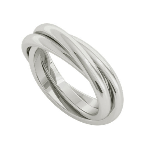Russian Wedding Ring - Willow - Sterling Silver