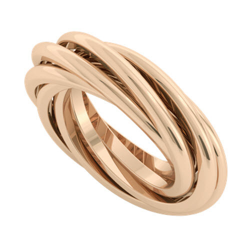 Double Russian Wedding Ring - Gemelle 9ct Rose Gold