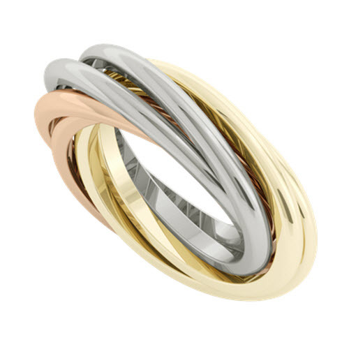 Double Russian Wedding Ring - Gemelle 9ct Gold