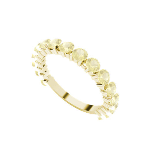 Brilliant Cut Yellow Sapphire 9ct Yellow Gold Wedding Ring