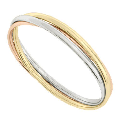 Russian Bangle - The 'Diana' 9ct Multi-Gold