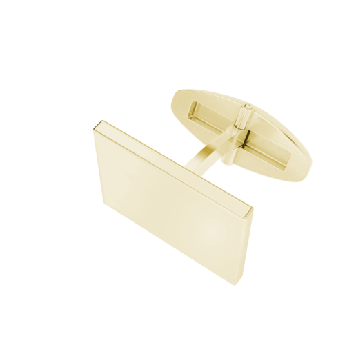 Men's Rectangular Cufflinks 9ct Yellow Gold