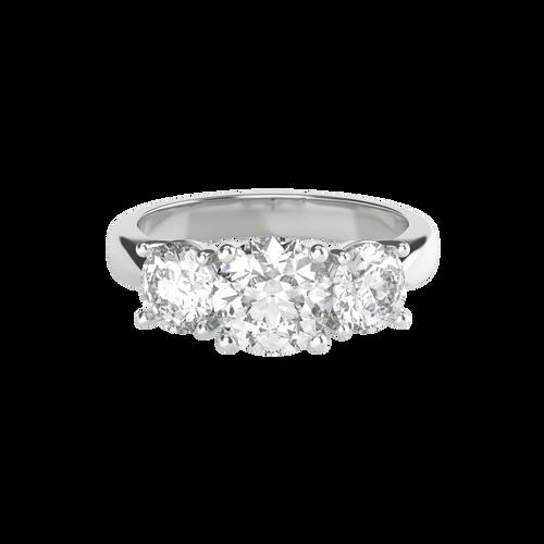 Brilliant Cut Three Stone Diamond 14ct Engagement Ring - 'Victoria'