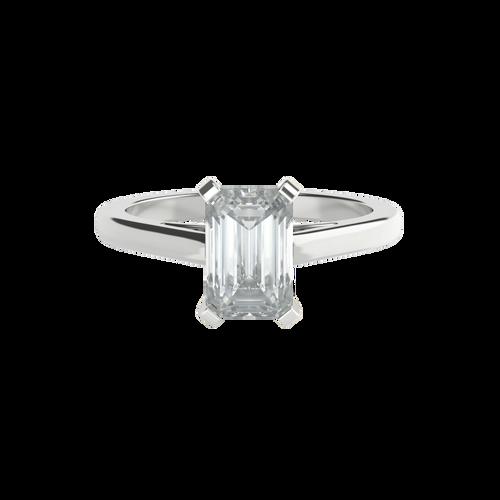 Emerald Cut Diamond Solitaire Engagement Ring - 'Chelsea'