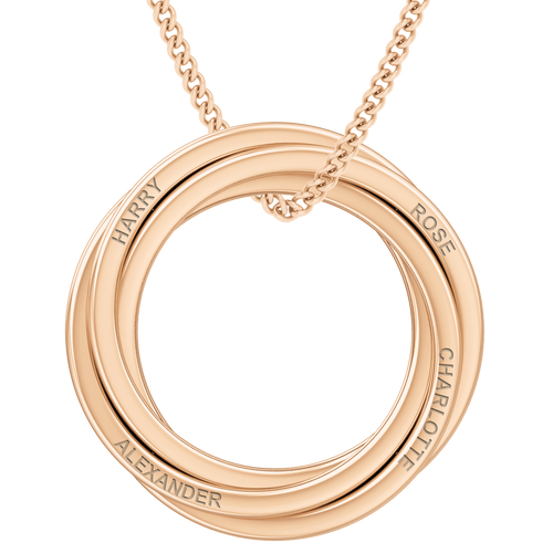 Russian Ring Necklace - the 'Catherine' 9ct Rose Gold