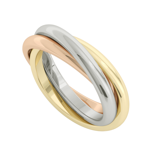 Russian Wedding Ring - Willow - 9ct Multi Gold