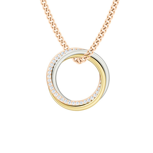 Diamond Russian Ring Necklace  - the 'Elizabeth' - 9ct Multi Gold