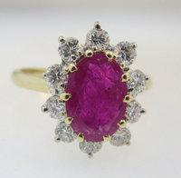 Ruby 14k Halo Ring