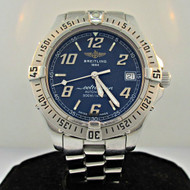 Breitling Colt Ocean A17350 Automatic Blue Dial Stainless Steel Watch As Is (B2278)