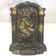 Vtg Heavy Cast Iron Fine Art Sculpture Bookend Doorstop Paperweight The Thinker