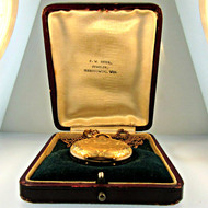 Antique 1905 Elgin 7 Jewels 0s Gold Filled Pocket Watch Parts Steampunk with Original Box (B2296)