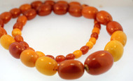 Vintage Natural Butterscotch Egg Yolk Baltic Amber Bead Necklace