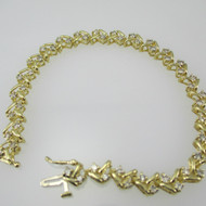 14k Yellow Gold Tennis Bracelet with Approx 1.5ct TW Diamond Accents 7 1/2 inches