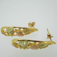 10k Black Hills Gold Coleman Co. Stud Earrings