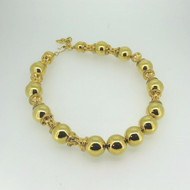 Vintage Monet Yellow Gold Tone Heavy Chunky Beaded Choker Necklace Statement