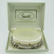 Speidel Silver Tone Medical Identification Bracelet 8 Inches
