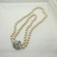 Vintage Vendome Versatile Single or Double Strand Faux Pearl Necklace