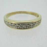 14k Yellow Gold Diamond Band Size 7