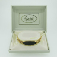 Speidel Gold Tone Medical ID Bracelet 6 1/4 Inches