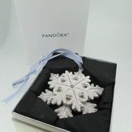 Limited Edition 2015 Pandora Snow Flake Ornament with Box