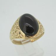 Vintage 1800's Era 10k Yellow Gold Czech Garnet Ring Size 10