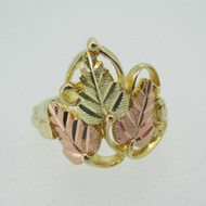 10k Coleman Co Black Hills Gold Fashion Ring Size 7 1/2