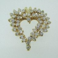 14k Yellow Gold Approx. .50ct TW Heart Pendant