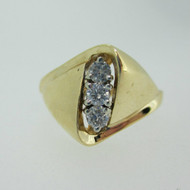 14k Yellow Gold Approx .25ct TW Round Brilliant Cut Diamond Ring Size 7 1/4
