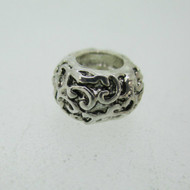 Sterling Silver 925 Petite Swirl Designed Spacer Charm Bead
